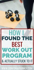workout program for beginners