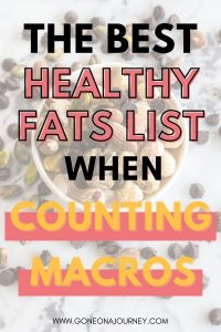healthy fats list